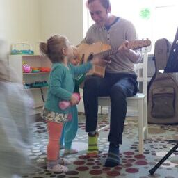 Sharing music at daycare!
